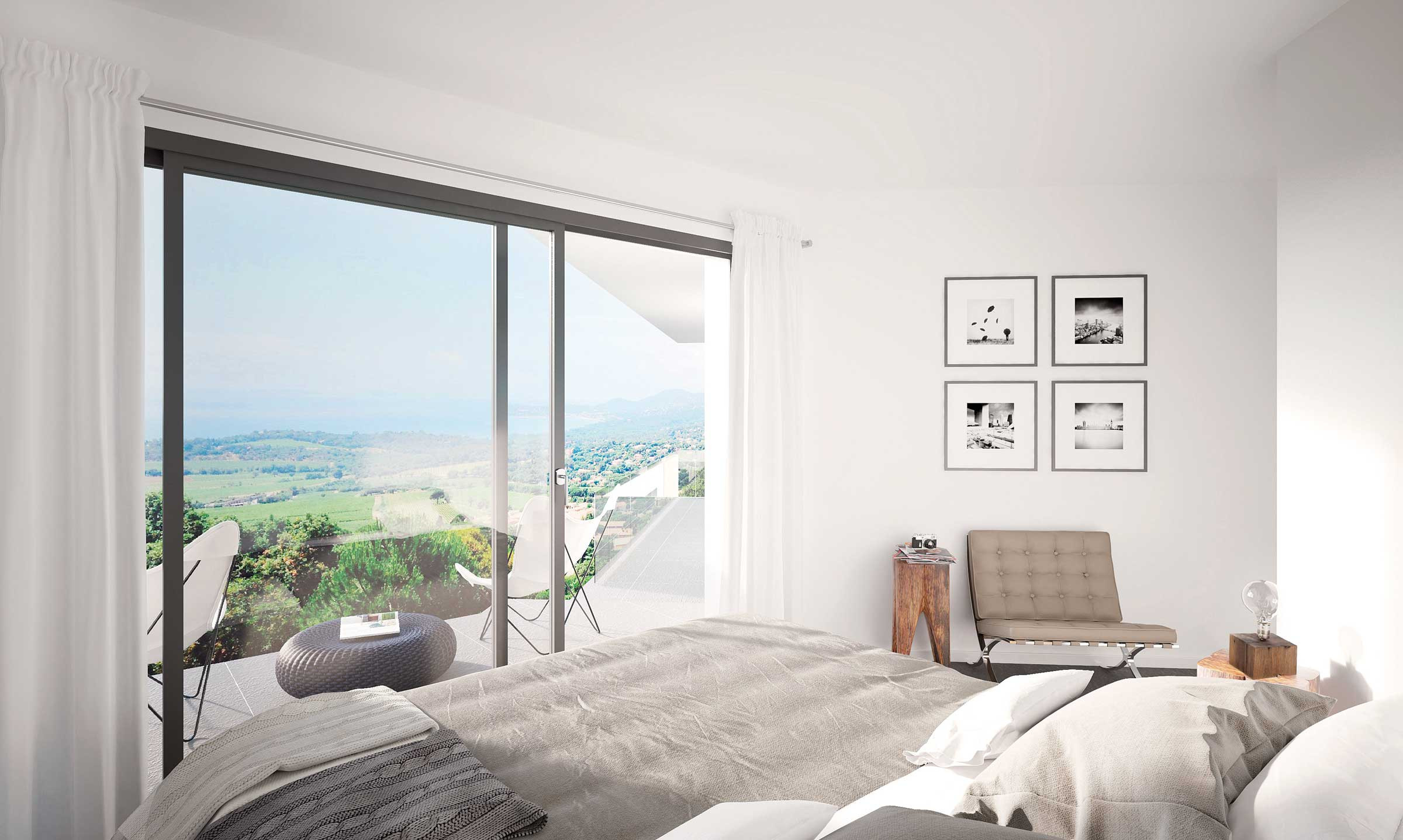 villa montes saint-tropez, Schlafzimmer entwurf